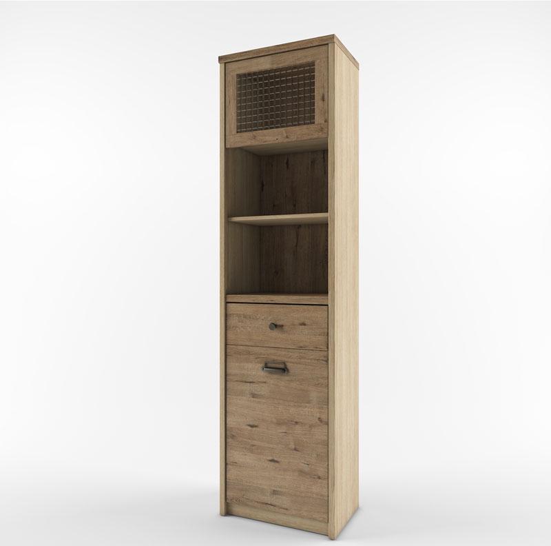 Шкаф с витриной 1V1D1S2N/D1 веллингтон